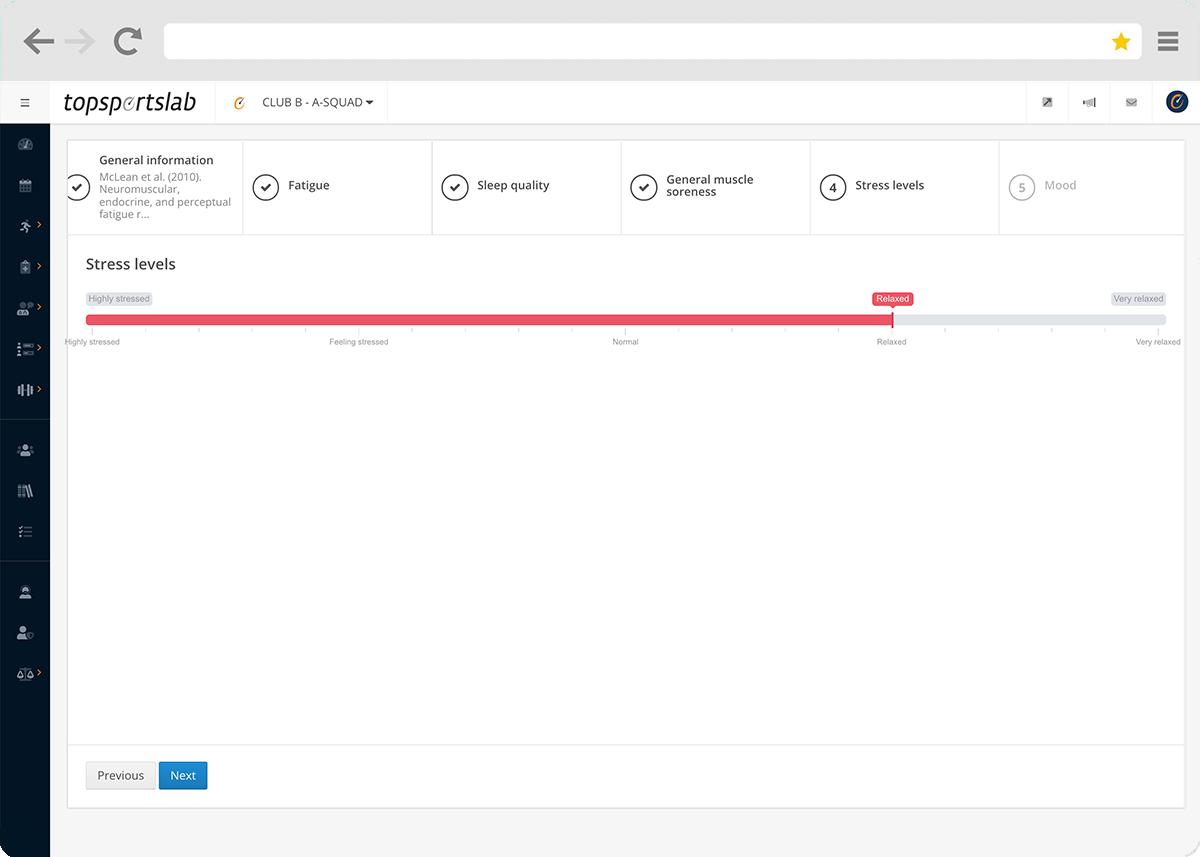 Custom question types in Topsportslab platform
